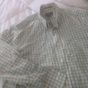 Eddie Bauer plaid button-down dress shirt size l